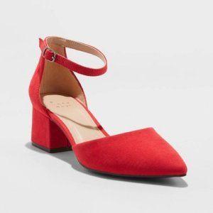 Women's Natalia Microsuede Pointed Toe Block Heel